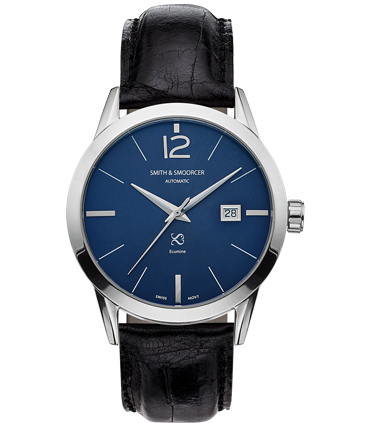 Blue Automatic Watch Ecumine Royal Blue Classic Black