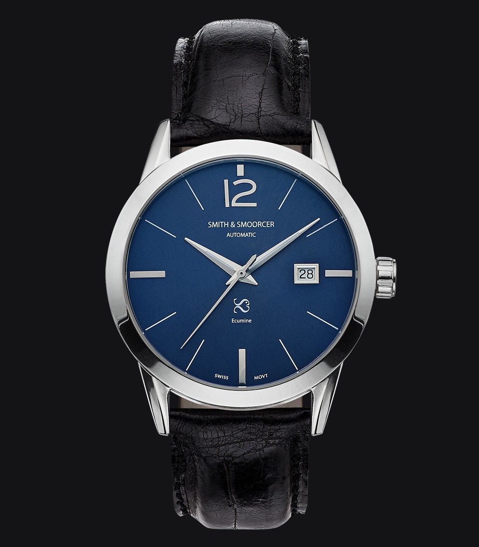 Blue Automatic Watch Ecumine Royal Blue Classic Black