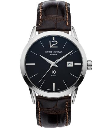 Black Automatic Watch Ecumine Plain Dusk Classic Coffee