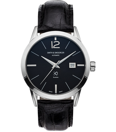 Black Automatic Watch Ecumine Plain Dusk Classic Black