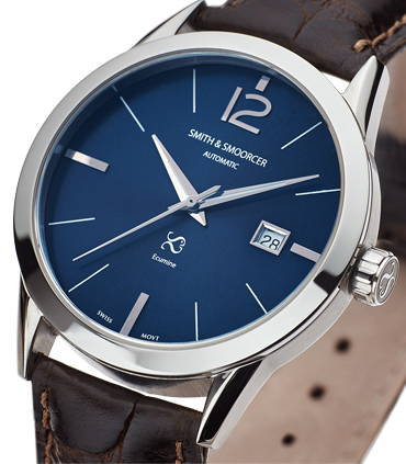 Blue Automatic Watch Ecumine Royal Blue Classic Coffee