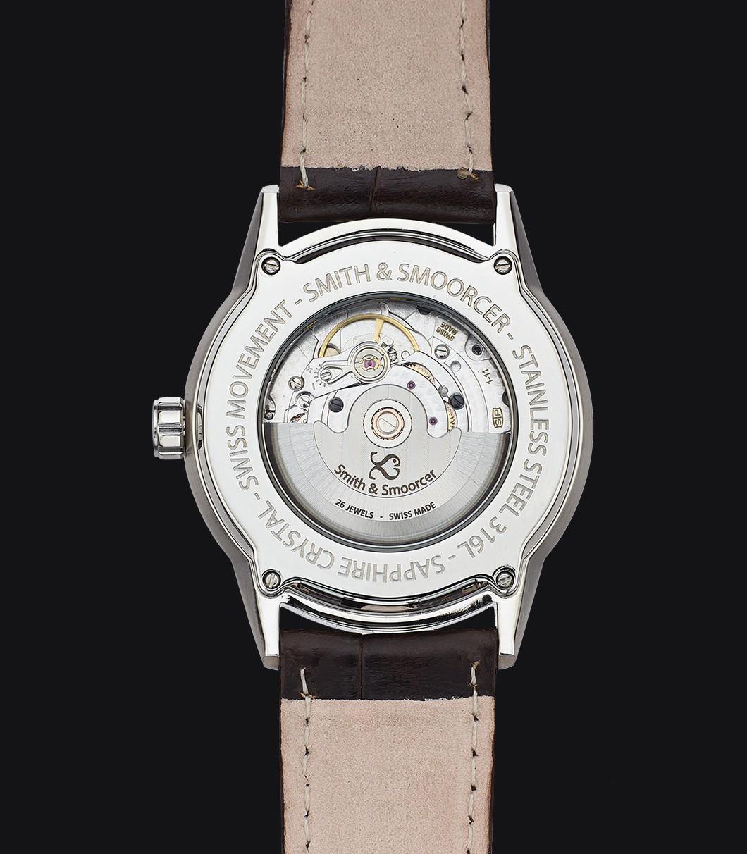 Black Automatic Watch Ecumine Plain Dusk Classic Black