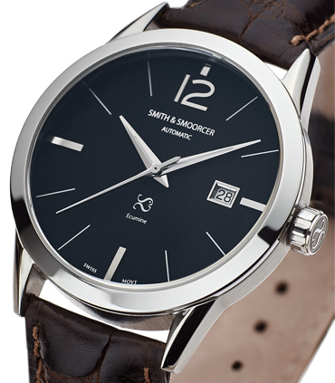 Black Automatic Watch Ecumine Plain Dusk Classic Coffee