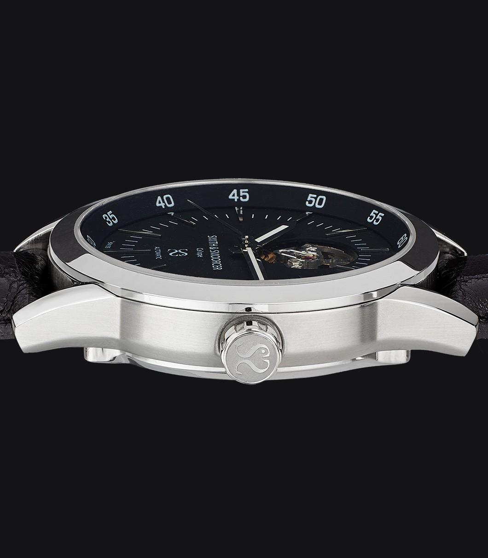 Reloj Automático Negro Caliope Plain Dusk Open Heart Black