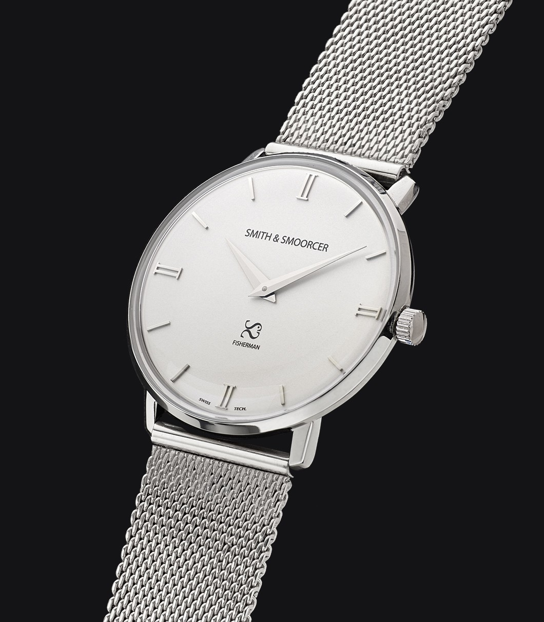 Reloj Clásico Blanco Fisherman Snowy Metal Steal