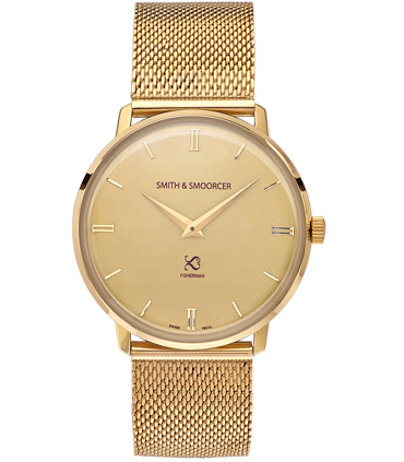 Gold Classic Watch Fisherman Vintage Metal Gold