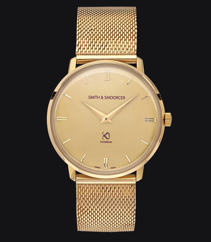 Reloj Clásico Dorado Fisherman Vintage Metal Gold