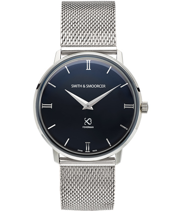 Black Classic Watch Fisherman Dusk Metal Steal