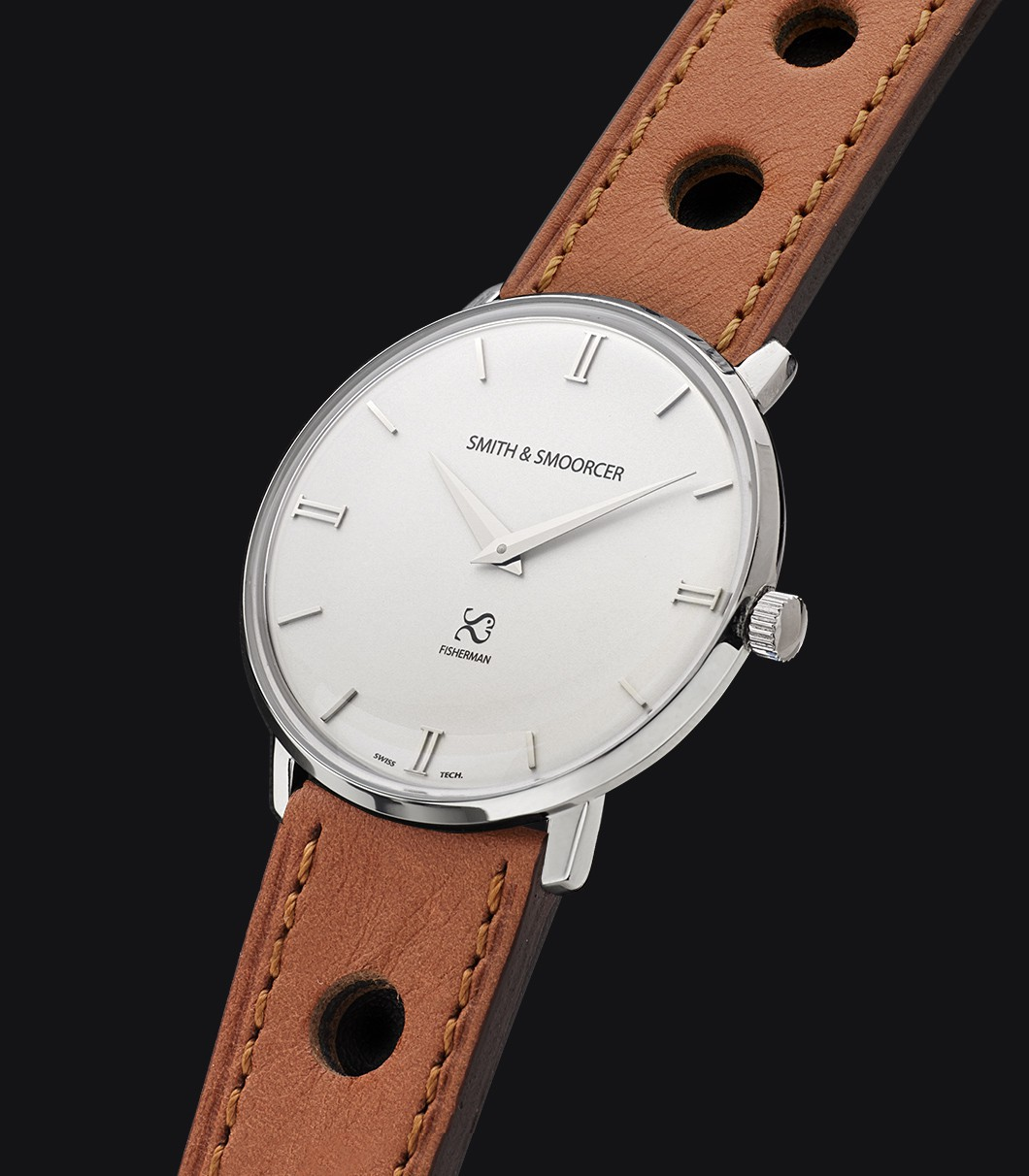 White Dial Watch Fisherman Snowy Racing Desert