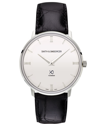 Reloj Clásico Blanco Fisherman Snowy Luxury Black