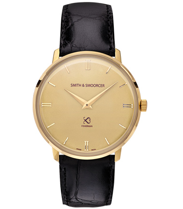 Gold Classic Watch Fisherman Vintage Luxury Black