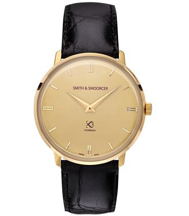 Reloj Clásico Dorado Fisherman Vintage Luxury Black