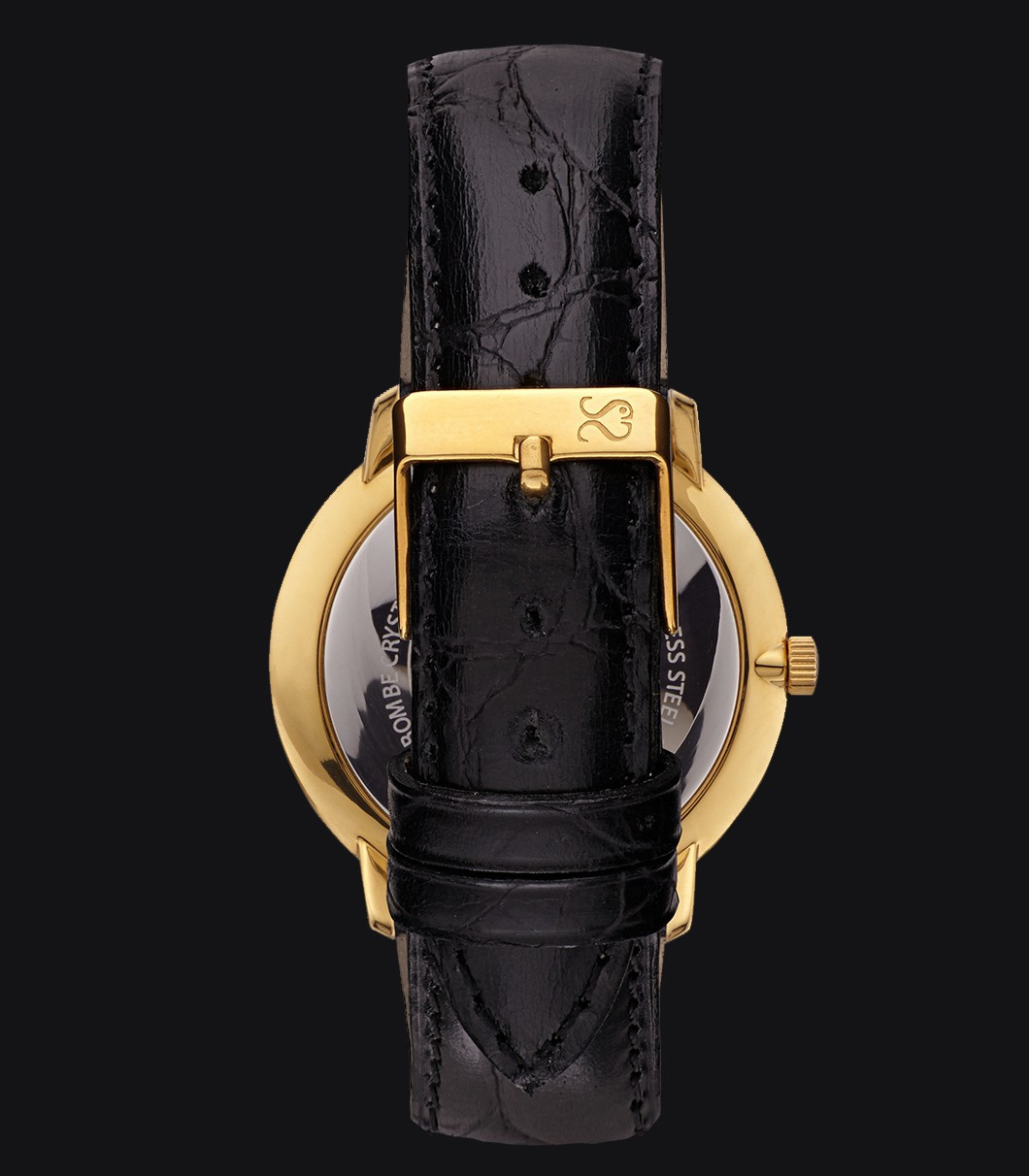 Reloj Clásico Dorado Fisherman Vintage Luxury Black