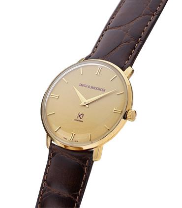 Gold Classic Watch Fisherman Vintage Luxury Coffee