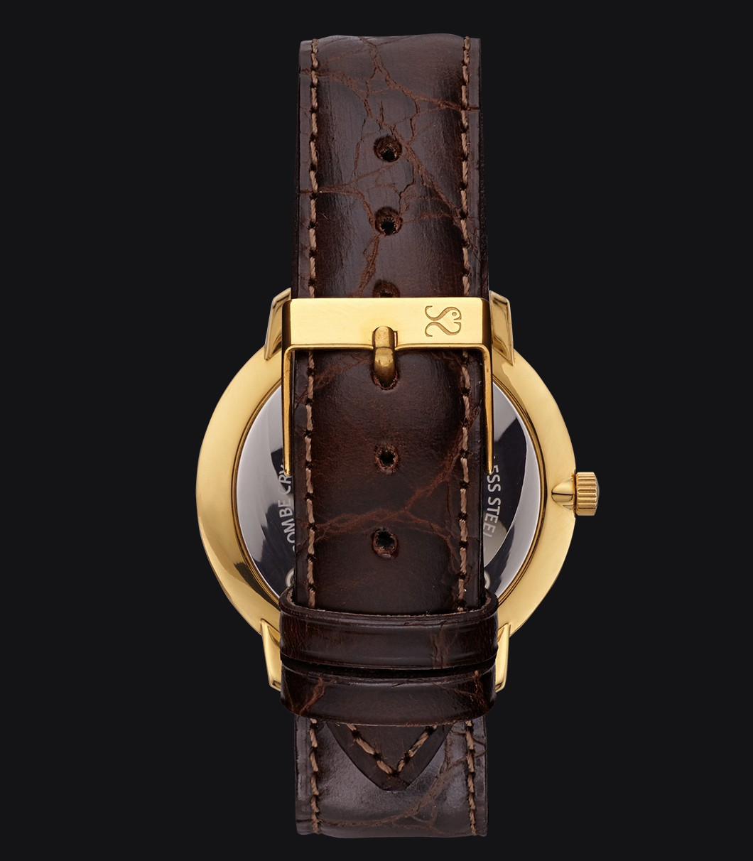 Gold Classic Watch Fisherman Vintage Luxury Coffee
