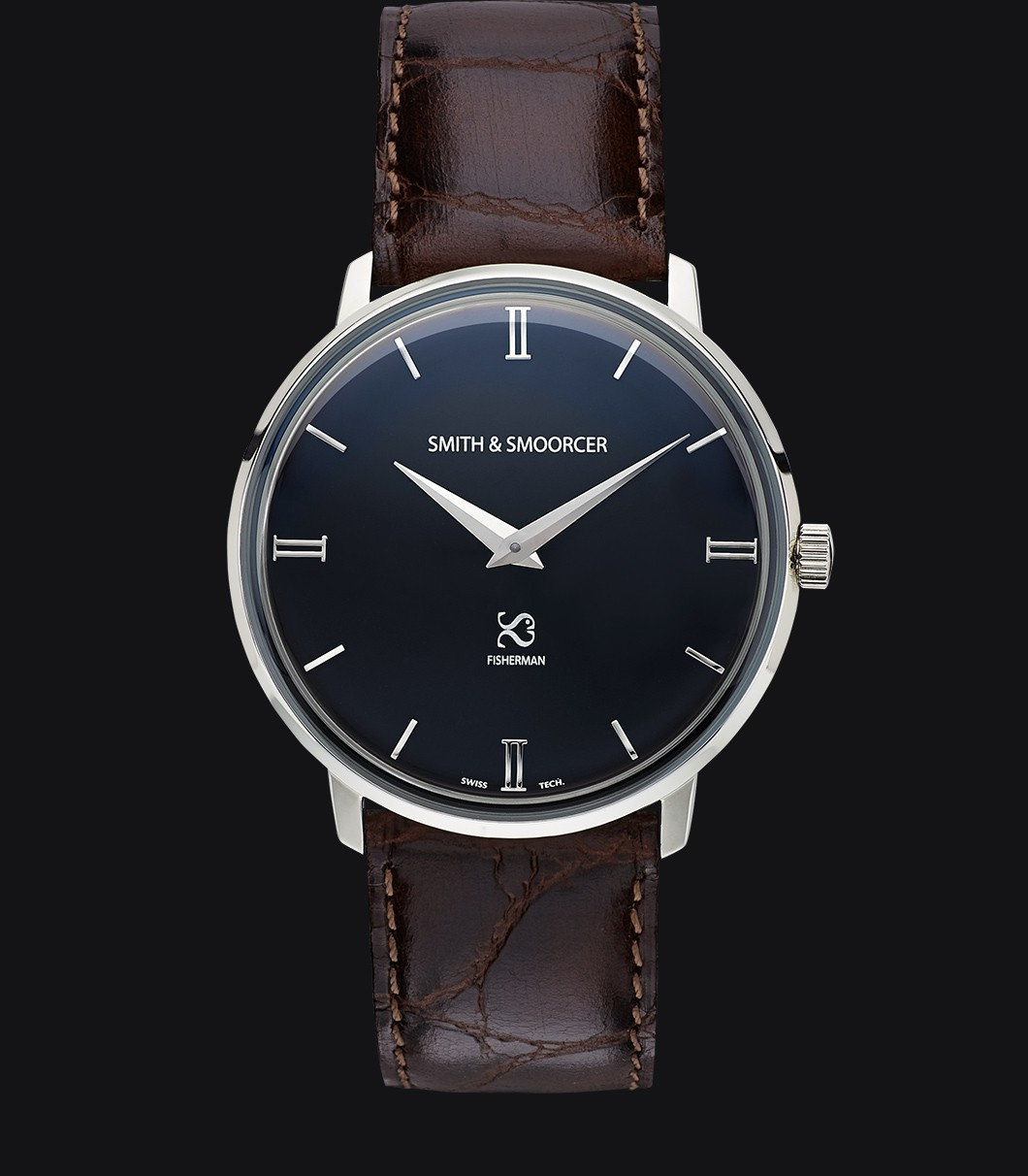 Black Classic Watch Fisherman Dusk Luxury Coffee