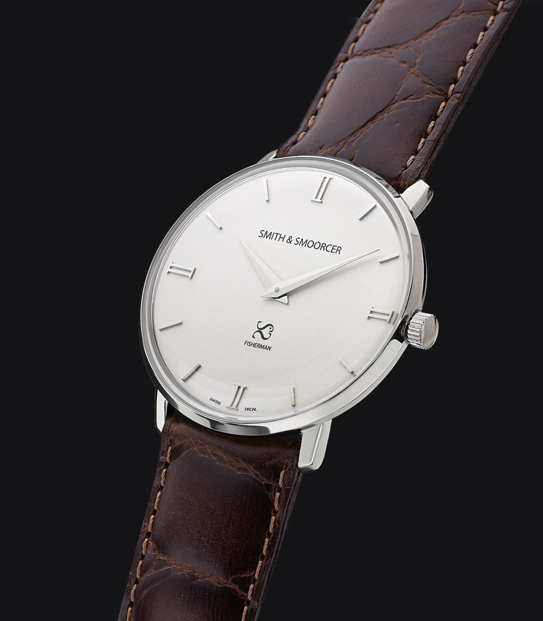 Reloj Clásico Blanco Fisherman Snowy Luxury Coffee