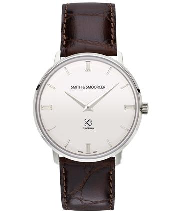 Reloj Clásico Blanco Fisherman Snowy Luxury Coffee