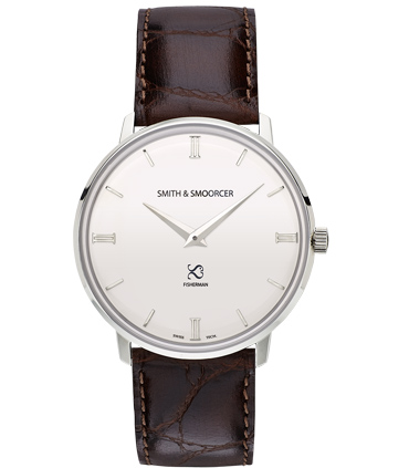 White Classic Watch Fisherman Snowy Luxury Coffee