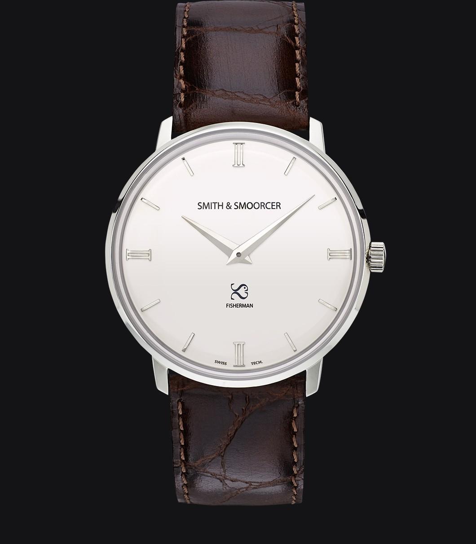 White Classic Watch Fisherman Snowy Luxury Coffee