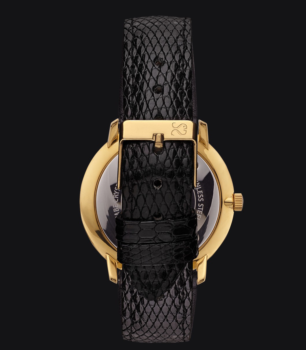 Gold Watch Lizard Fisherman Vintage Elegance Black