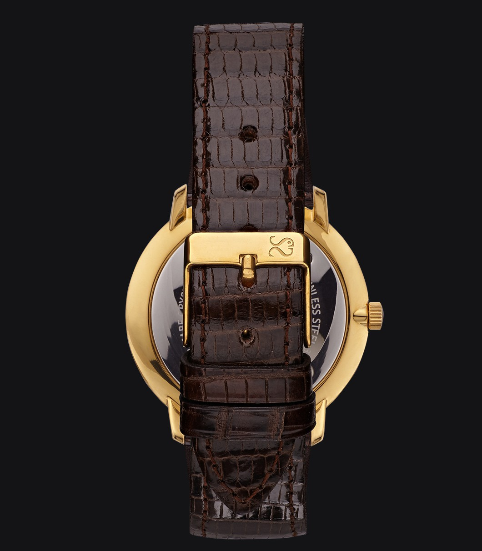 Reloj Dorado Lagarto Fisherman Vintage Elegance Dark Brown