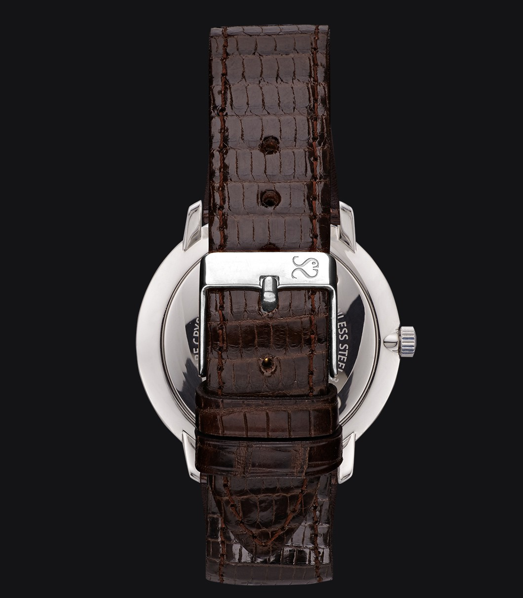 Reloj Negro Lagarto Fisherman Dusk Elegance Dark Brown