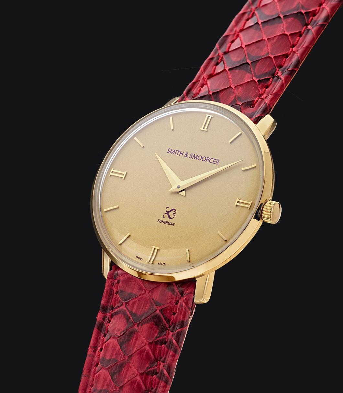 Reloj Dorado Serpiente Fisherman Vintage Viper Rouge