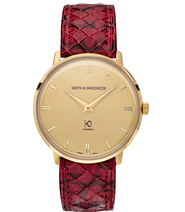 Gold Watch Snake Fisherman Vintage Viper Rouge