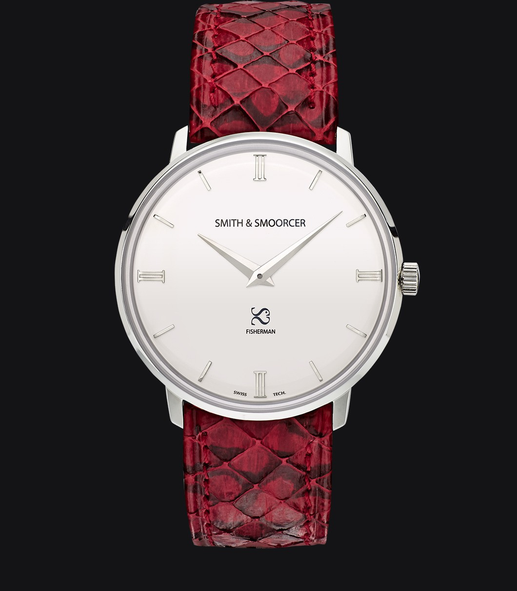 Reloj Blanco Serpiente Fisherman Snowy Viper Rouge