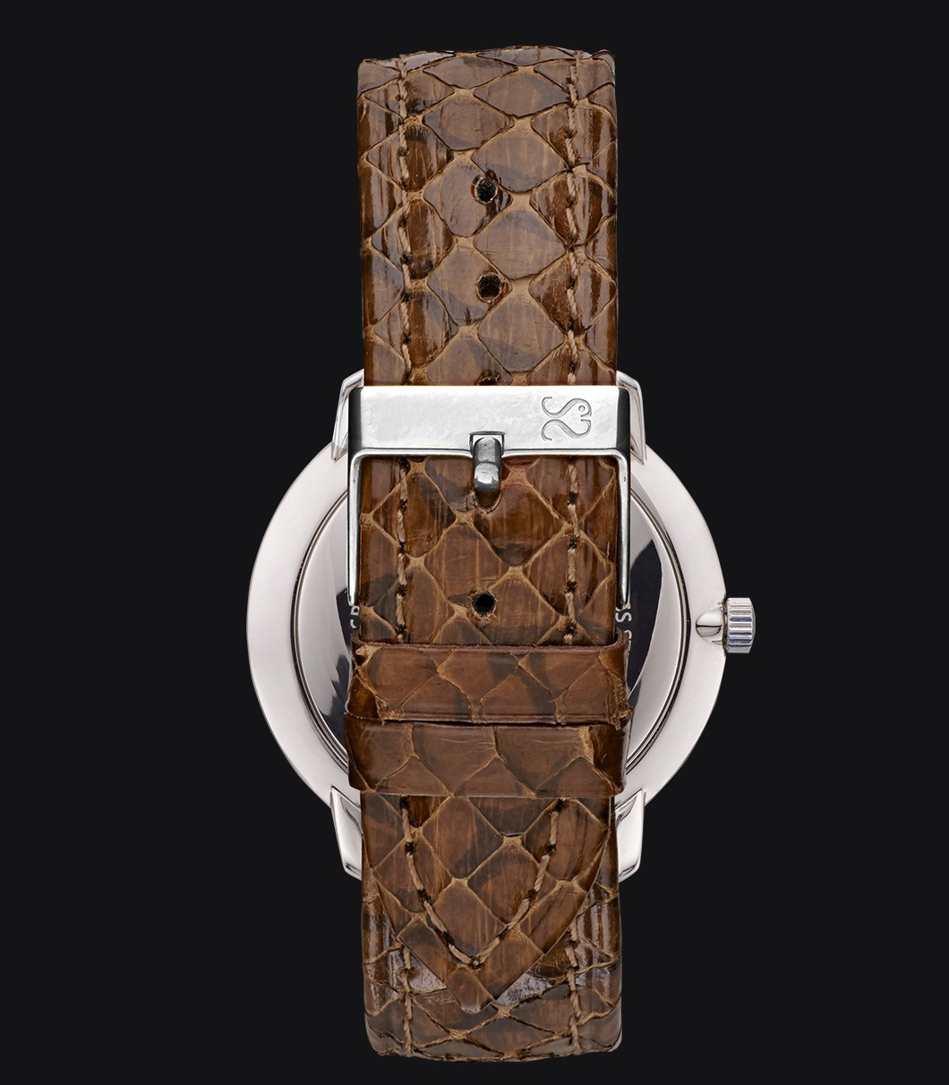 Reloj Negro Serpiente Fisherman Dusk Viper Brown