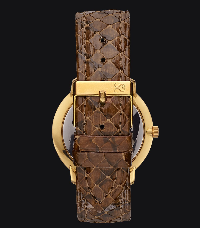 Gold Watch Snake Fisherman Vintage Viper Brown