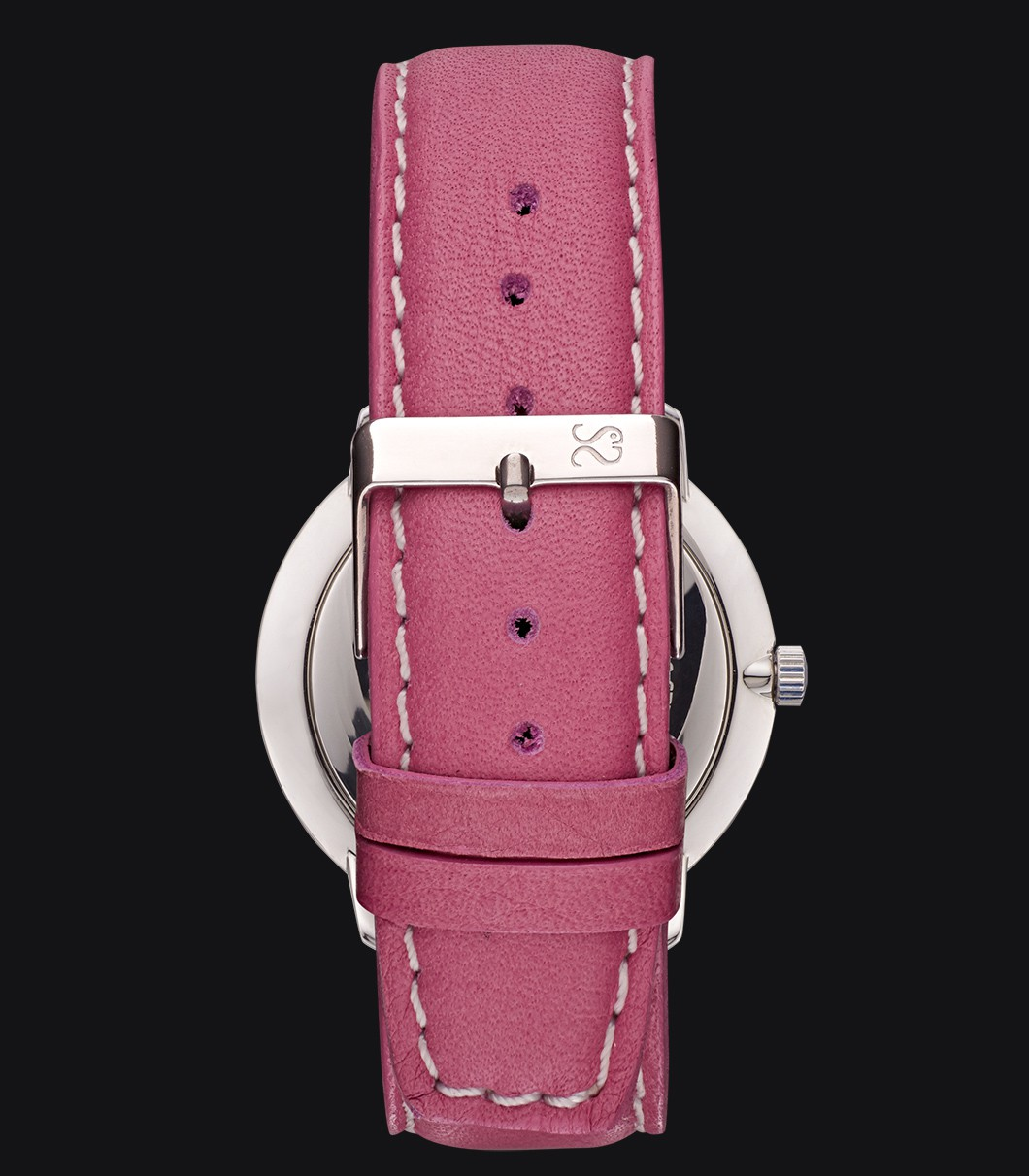 Pink Smooth Leather Watch Strap