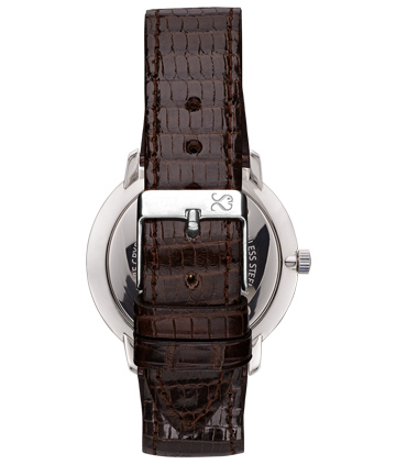 Dark Brown Lizard Leather Watch Strap