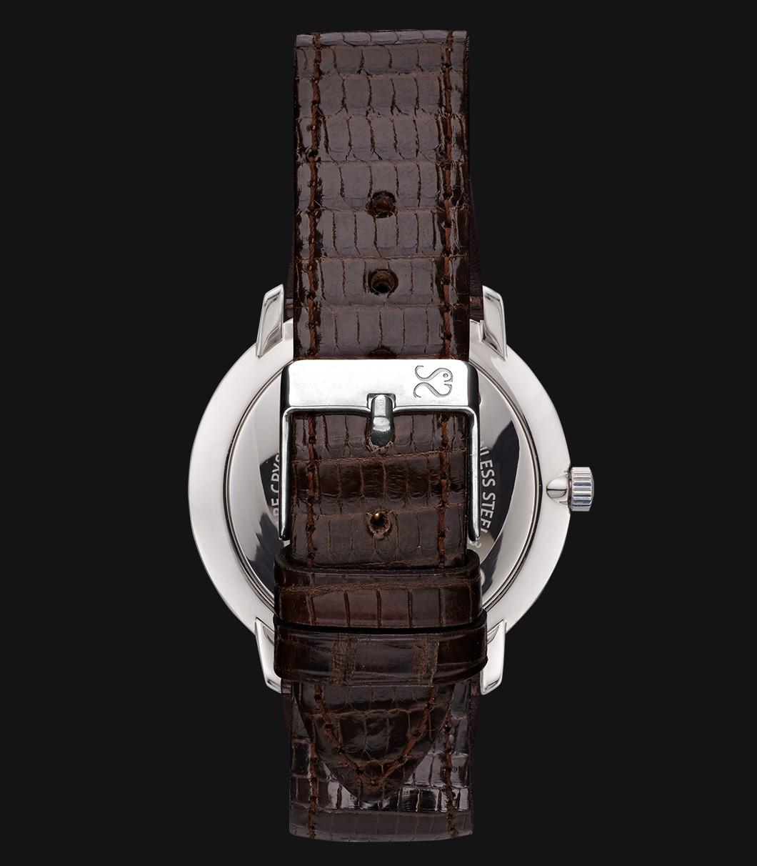 Correa Reloj Piel Lagarto Marrón Oscuro
