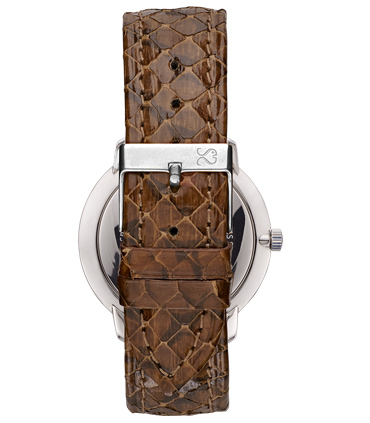 Brown Snake Leather Watch Strap