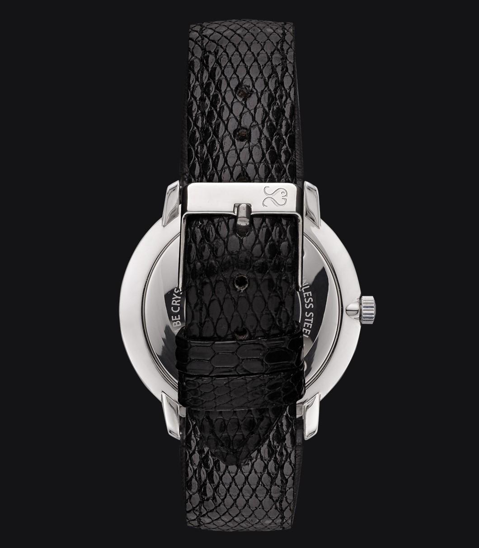 Correa Reloj Piel Lagarto Negra