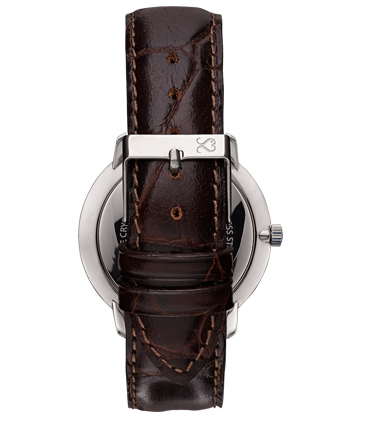 Brown Alligator Finish Leather Watch Strap