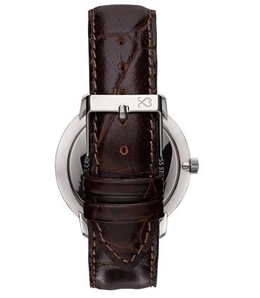 Brown Alligator Finish Leather Watch Strap
