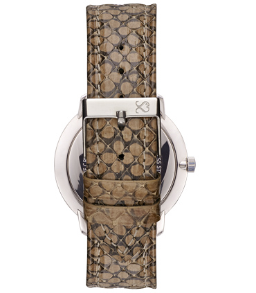 Beige Snake Leather Watch Strap