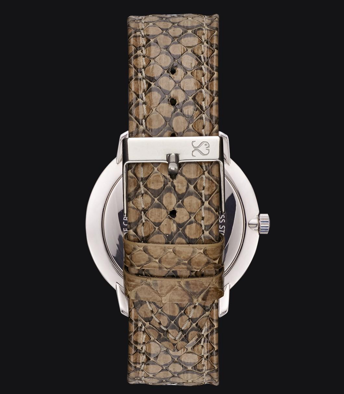 Correa Reloj Piel Serpiente Beige