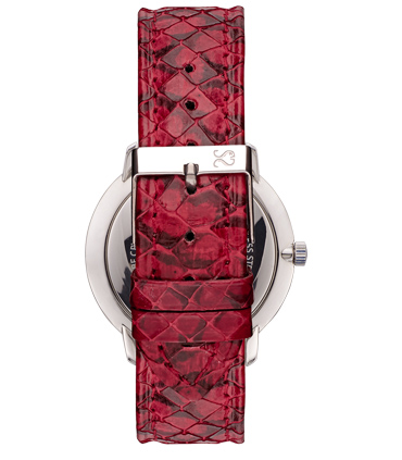 Red Snake Leather Watch Strap