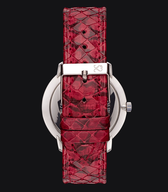 Correa Reloj Piel Serpiente Roja