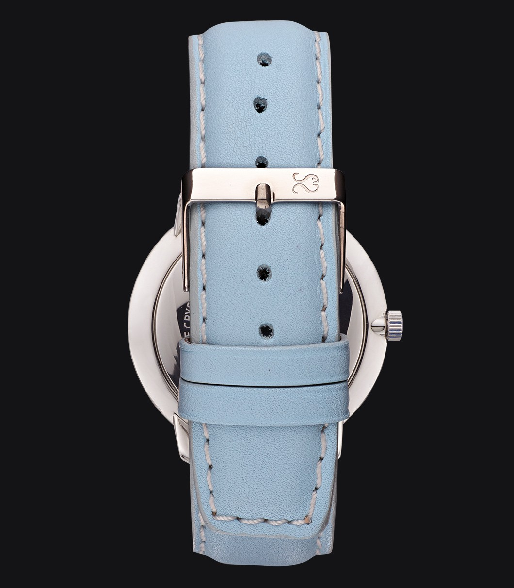 Blue Smooth Leather Watch Strap