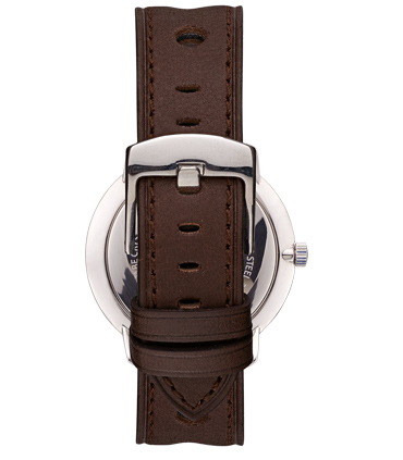 Correa Reloj Piel Marrón Oscuro Perforada