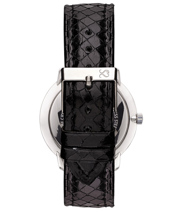 Black Snake Leather Watch Strap