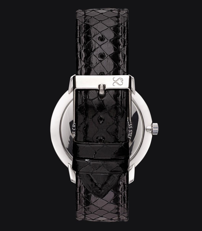 Correa Reloj Piel Serpiente Negra