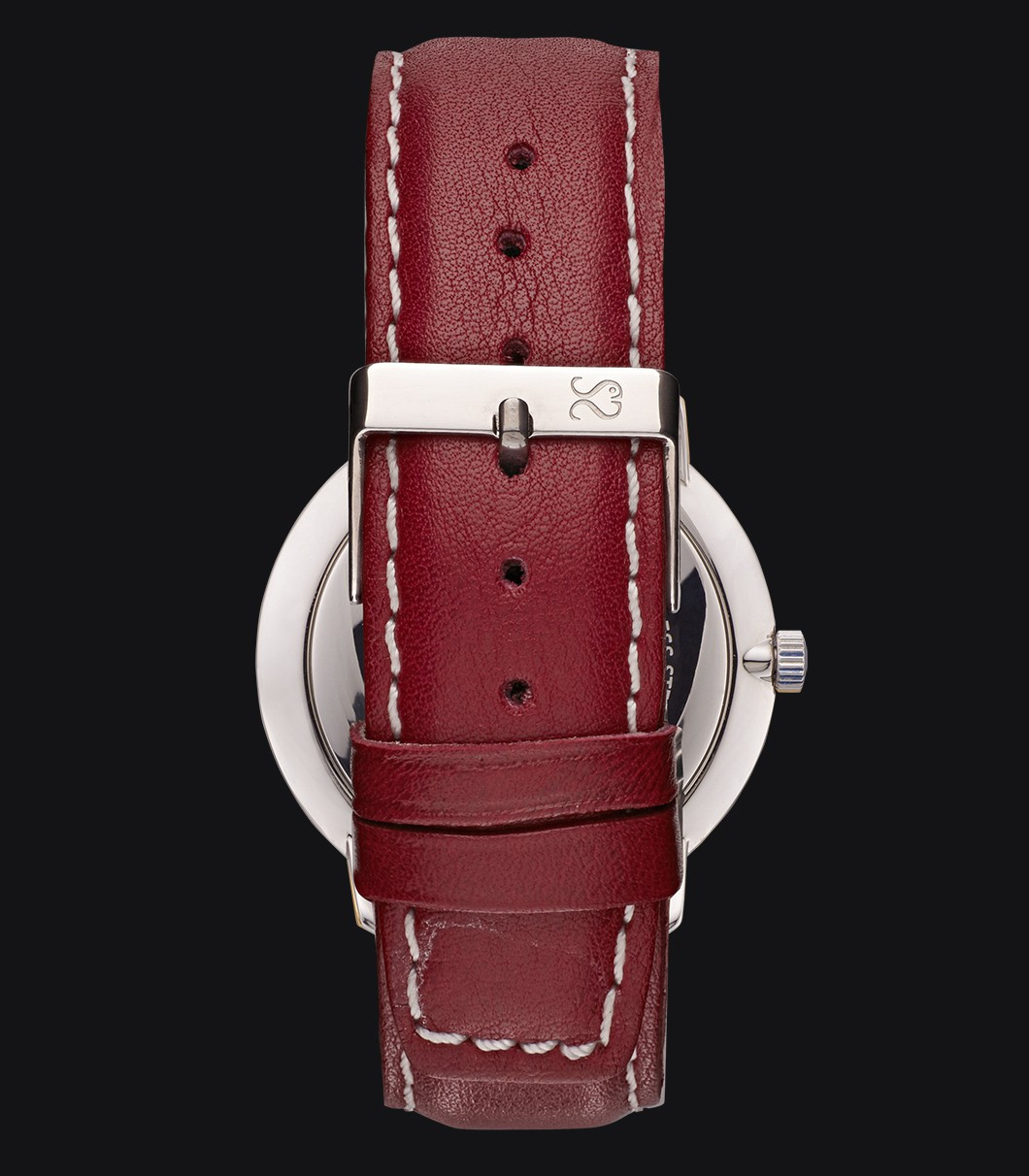 Red Smooth Leather Watch Strap