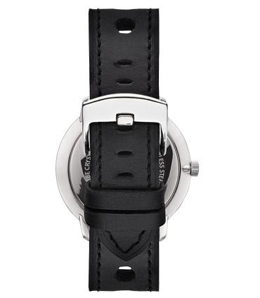 Correa Reloj Piel Negra Perforada