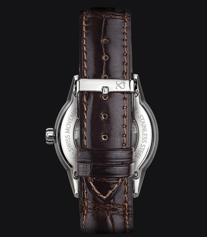 Correa Reloj Piel Cocodrilo Marrón